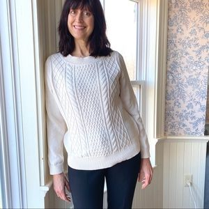 Talbots 💯 cotton cable knit sweater